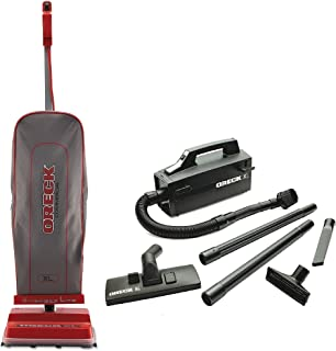 Oreck Commercial U2000RB-1 Commercial 8 Pound Upright Vacuum Bundle Super Deluxe Compact Vac - BB880AD