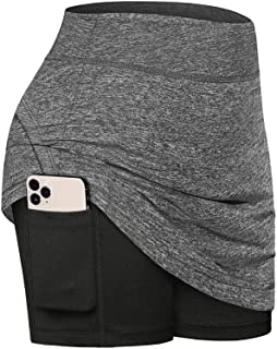 Fulbelle Womens Summer Athletic Tennis Skirt Golf Skorts with Pockets