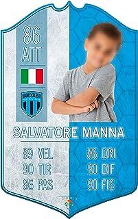 Adesivo Murale - Card Personalizzata FUT Player - Lazio - Plug Calcio Soccer Cameretta Idea Regalo Squadra del Cuore Calci...