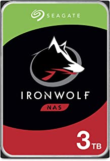 Seagate IronWolf 3TB NAS Internal Hard Drive HDD – CMR 3.5 Inch SATA 6Gb/s 5900 RPM 64MB Cache for RAID Network Attached S...