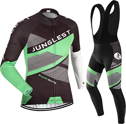 JUNGLEST Maillot de Cyclisme Homme Manches Longues Jersey(S5XL,Option Cuissard,3D Coussin) N38