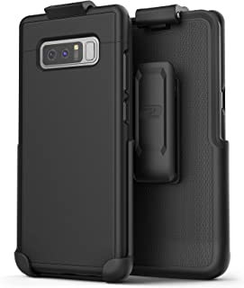 Encased Case with Belt Clip for Samsung Galaxy Note 8 Protective Phone Cover with Holster for Galaxy Note 8 (SlimShield Series) Smooth Black