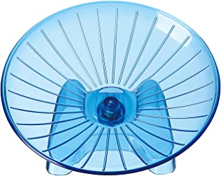 SatisPet Ultimate Hamster Flying Saucer Exercise Wheel, Blue - Durable ABS Plastic Running & Spinning Wheel for Gerbils, Squirrels & Mice