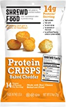 Shrewd Food Baked Cheddar Keto Protein Crisps 8 Pack | High Protein, Low Carb, Gluten Free Snacks | No Artificial Flavors | Soy Free, Peanut Free