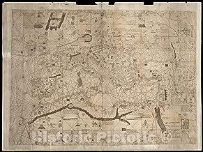 Historic Map, 1890-1899 [Carte marine de la mer Baltique, de la mer du Nord, de l'ocean Atlantique Est, de la mer Mediterranee, de la mer Noire et de la mer Rouge], Vintage Wall Art : 59in x 44in