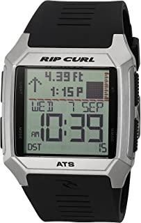Rip Curl Men's 'Rifles SS Tide' Quartz Stainless Steel and Polyurethane Sport Watch, Color:Black (Model: A1120-BLK)