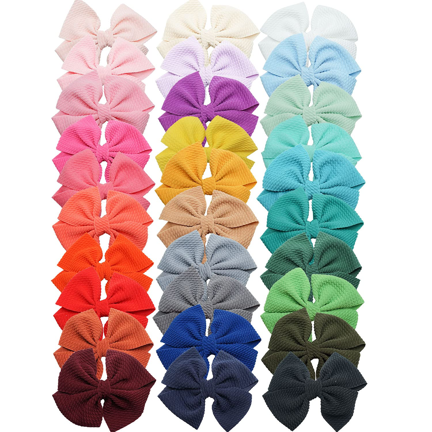 DeD 30 Colors 4.5 Inch Baby Girl Hair Bows with Alligator Clips Hair Barrettes Hair Accessories for Girls Toddler Infants Kids