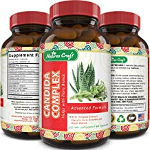 Natural Candida Cleanse – Yeast Detox Supplement with Probiotic Oregano Leaf Oil Extract – Pure Formula for Yeast Infection Support for Men and Women – Cleanser and Weight Loss – Natures Craft