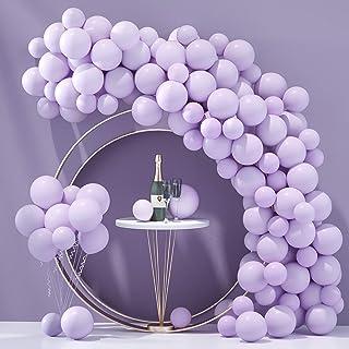 Honinda Pastel Purple Balloons Latex Party Balloons 10inch + 5inch 70pcs Macaron Balloons Helium Balloons for Wedding Birt...