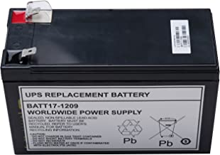 UPS Replacement Battery for APC UPS Models BE650G, BE750G, BR700G, RBC17 (BATT17-1209)