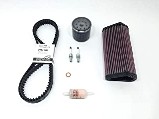 Service Kit for Ducati 848/1098/1198: Timing Belts, K&N Air Filter, Mahle Fuel Pump Filter, Athena Oil Filter, NGK Spark Plugs & VITON O-Ring