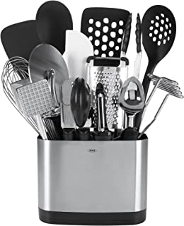 OXO 1069228 Good Grips 15-Piece Everyday Kitchen Tool Set, Silver