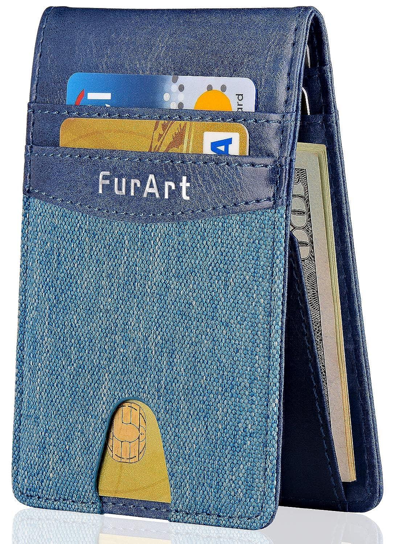 FurArt クレジットカードケース スキミング防止 薄型 0.7cm 二つ折り 男女兼用 メンズ レディース カラー豊富 カード入れ スリム