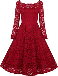 REMASIKO Womens Off Shoulder Lace Wedding Homecoming A-Line Cocktail Dress 8c0fe3b10