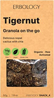 Organic Gluten-free Granola (12 x 1.8 oz Pack) with Tigernut and Nopal - Gut-friendly - Raw - Vegan - Sprouted - Non-GMO