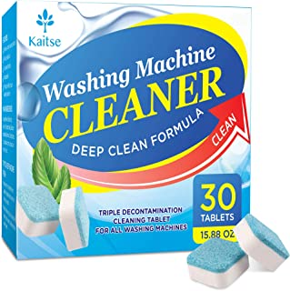 Kaitse Washing Machine Cleaner Effervescent Tablets, Solid Washer Deep Cleaning Tablet, Triple Decontamination Remover wit...