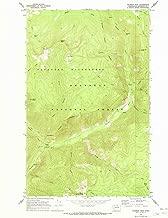 YellowMaps Coleman Peak WA topo map, 1:24000 Scale, 7.5 X 7.5 Minute, Historical, 1969, Updated 1973, 26.8 x 22 in