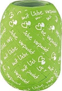 Susy Card 40005553 Zierband Motiv: mit Liebe verpackt grün