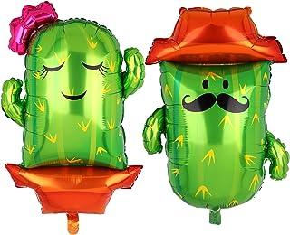 Large Cactus Foil Mylar Balloon Mexican Final Fiesta Theme Birthday Wedding Fiesta Bridal Shower Party Decor 2 Pcs