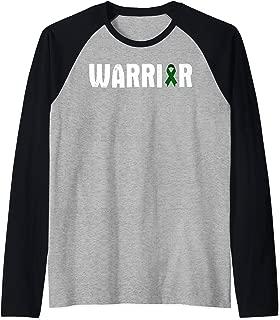 Glaucoma Warrior - Awareness Fighter Quote Saying Ribbon Raglan Baseball Tee