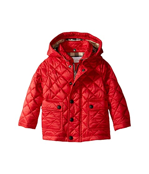 Burberry Kids Quilted A-Line Jacket (Infant/Toddler)