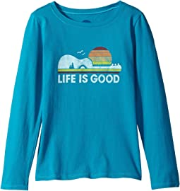 Life is Good Kids - Camp Guitar Long Sleeve Crusher Tee (Little Kids/Big Kids)