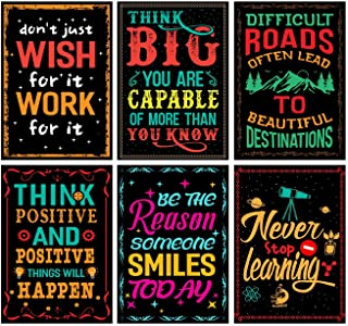 Motivational Inspirational Learning Posters Set, Wall Art Decor With Inspiring Quotes, Room, Office, Gym, Bedroom, Kitchen...