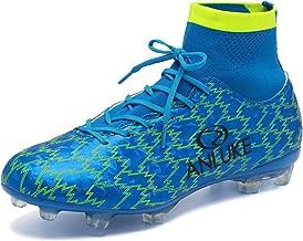 ANLUKE Men's Athletic Hightop Cleats Soccer Shoes Football Team Turf