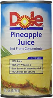 Dole Pineapple Juice 6 6-oz. cans (Pack of 6) = 36 cans