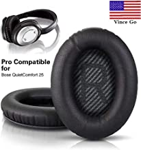 Ear Pads Replacement for Bose Quiet Comfort 15/25 (QC15/25) Headphones-Compatible with QC15 and QC25 Shaped Scrim with Lettering- R and L -QC15/QC25 Ear Cushions-Black- Original PRO Manufacturer