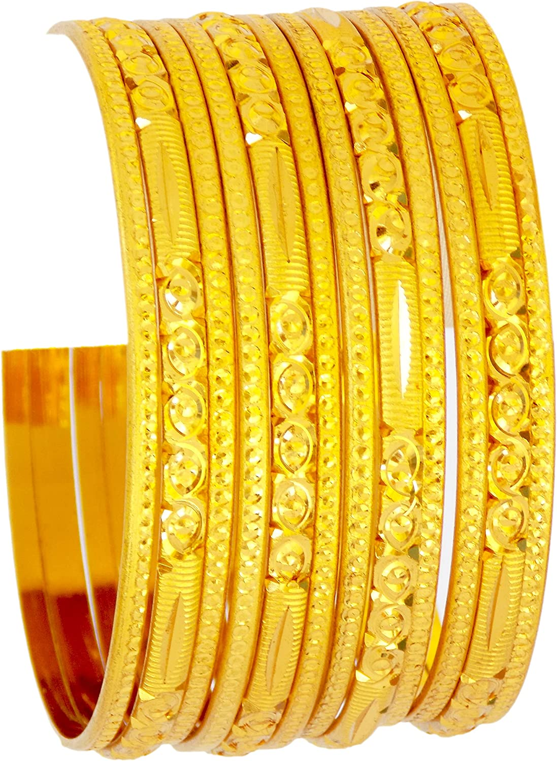 JD'Z COLLECTION Indian Gold Plated Bangles Jewelry for Women & Girls Gold Plated Jewelry for Women