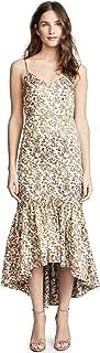 Jill Jill Stuart Women's Floral Jacquard Midi Dress with Side Cutouts