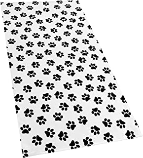 Softerry 1000 Dogs Paw Printed Beach Towel 30 x 60 inches