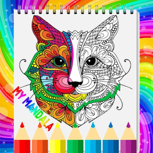 Mandala : Cat Coloring Book for Adults