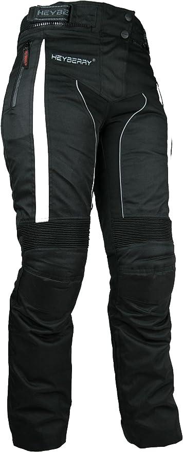 Heyberry Damen Motorradhose Sportlich Textil Schwarz Weiß Gr Xl 42 Auto