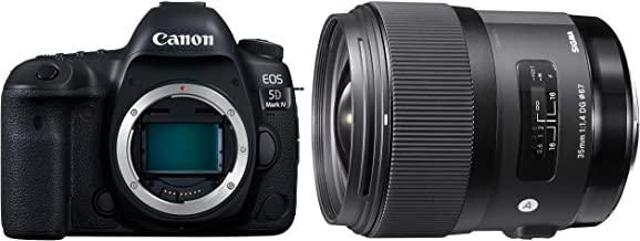 Canon EOS 5D Mark IV 30.4MP Digital SLR Camera Body Only (Black) with Sigma 35mm F/1.4 DG HSM Art Lens