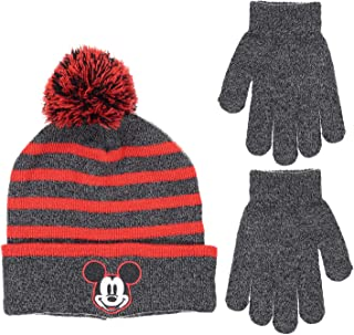 5b0b2fa4c7da4 Disney Mickey Mouse Boys Beanie Knit Winter Hat And Mitten Set - Toddler  Size  4015