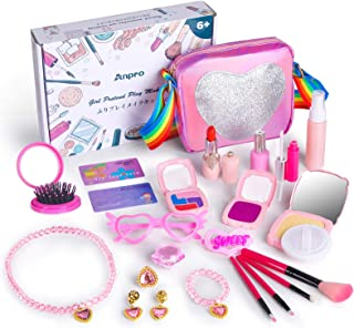 Anpro 23pcs Girl Pretend Make Up Toy Set for Kids, Pretend Makeup for Girls, Children's Birthday (Not Real Makeup)