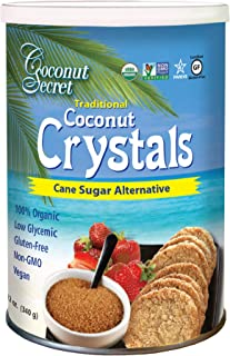 Coconut Secret Coconut Crystals (2 Pack) - 12 oz - Low-Glycemic Sugar Alternative, Replacement Sweetener - Organic, Vegan,...