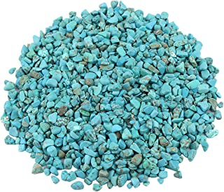 rockcloud 1 lb Howlite Turquoise Small Tumbled Chips Crushed Stone Healing Reiki Crystal Jewelry Making Home Decoration