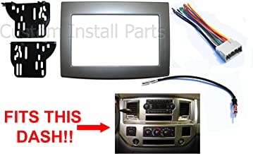 silver double din car stereo