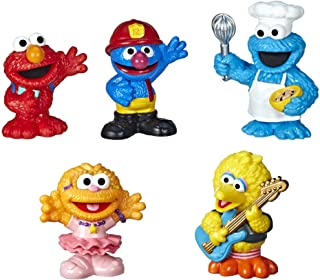 -Sesame-Street Neighborhood Friends Includes 5 Figures, 3-inches, Classic Collectibles Pack for Toddlers, Great Toy for Ki...