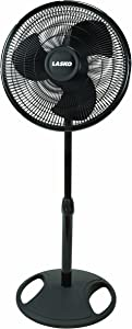 Lasko FBA 2521 Oscillating Stand Fan, 16-Inch, 1-Pack, Black Basic