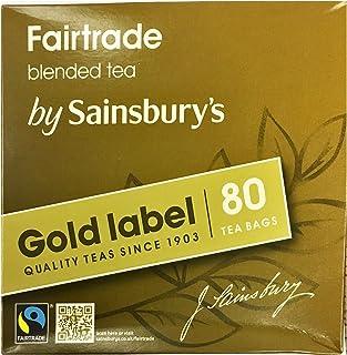 Sainsbury's Gold Label British Tea 80 Teabags Fairtrade Tea from England