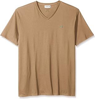 Lacoste mens Short Sleeve V Neck Pima Jersey Tee Shirt T-Shirt