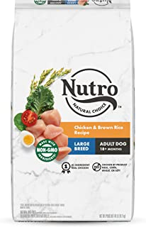 NUTRO NATURAL CHOICE Large Breed Adult Dry Dog Food, Chicken & Brown Rice Recipe Dog Kibble, 40 lb. Bag