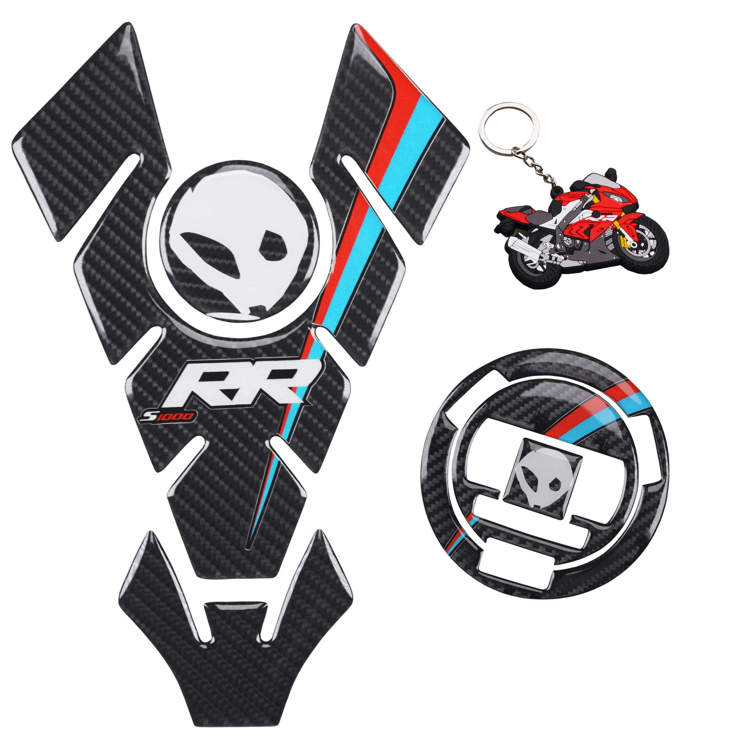 Black Acouto Helmet Lock, Motorcycle Helmet Lock with 2 Keys Fit for BMW S1000R S1000XR S1000RR HP4 2009-2018