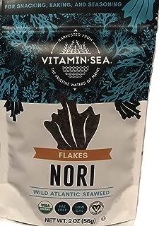 VitaminSea Organic Nori Flakes Seaweed - 2 oz / 56.5 G bags Maine Coast - USDA & Vegan Certified - Kosher - Perfect for Keto or Paleo Diets - (NF2)