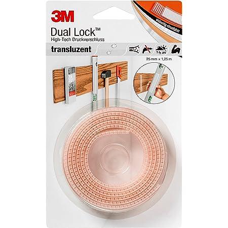 3M Dual Lock SJ3560, solutions de fixations amovibles - conçu pour donner un aspect translucide (verre, verre acrylique (PMMA), Polycarbonate) - translucide, 25mm x 1,25m, 5.7mm (1 pièce)