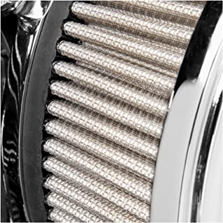 Arlen Ness Billet Sucker Stage II Replacement Air Filter for Harley Davidson 20 - Stainless Steel Filter Material
